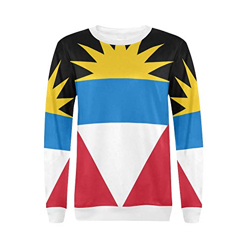 Antigua and Barbuda Flag Women's Pullover Sweater ()