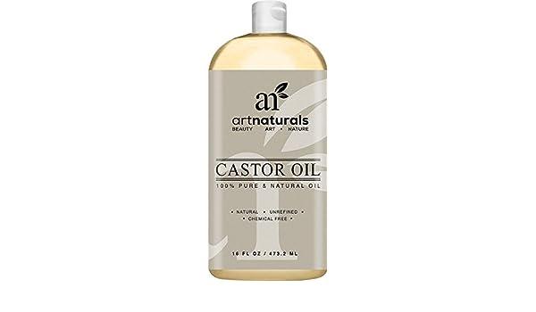 ArtNaturals Aceite de ricino 100% puro y natural 16 onzas - Mejor aceite de masaje e hidratante para el cabello y la piel ArtNaturals 100% Pure & Natural ...