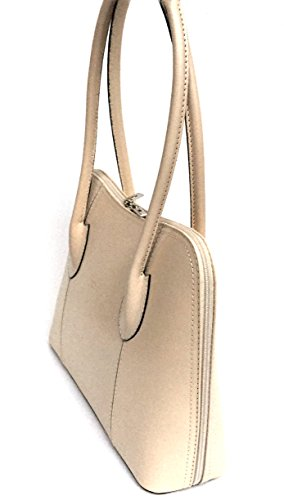 Smooth In Leather Model Genuine Italy Beige Shoulder Made Bag Superflybags Women's Handbags Nice twvqHwET
