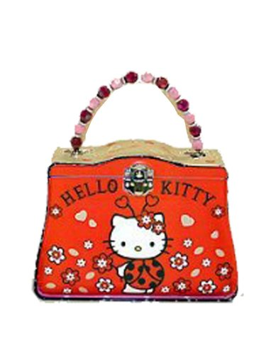 Hello Kitty Tin Lunch Box - Sanrio Hello Kitty Tin Box (Ladybug)