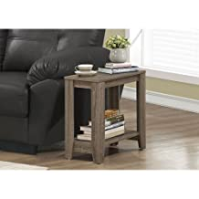 Monarch Specialties I 3115 Dark Taupe Reclaimed-Look Accent Side Table