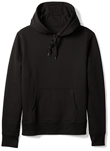 Amazon Essentials Men's Hooded Fleece Sweatshirt, Black,