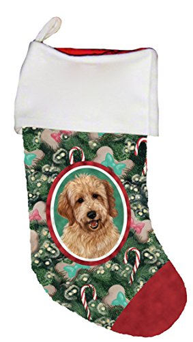 Best of Breed Goldendoodle Red Dog Breed Christmas Stocking