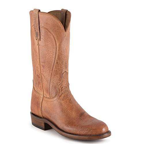 Lucchese HL3501.R9 Men's Tag Mad Dog Goat Cowboy Boot sz 10 EE (11 EE) Tan