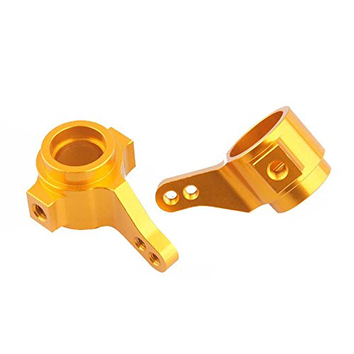 Toyoutdoorparts RC Gold Aluminum Front Knuckle Arm Uprights 2P TAMIYA CC01 CC-01 Upgrade Parts