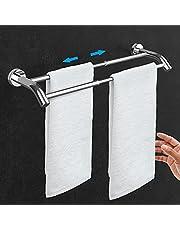 Adjustable Bathrone Towel bar, Premium Space Aluminum Alloy Materials Towel Holder, Modern Towel Rack for Bathroom Lavatory Kitchen, Wall Mounted Towel Shelf . (SUS304-2 Bar)
