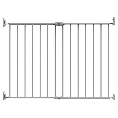 "Perma Super Wide 32.3"" – 55.9"" & Extra Tall 36"" Extending Metal Baby Gate W/ Locking Indicator, White"