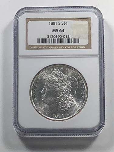 1881 S Morgan Silver Dollar Dollar MS-64 NGC