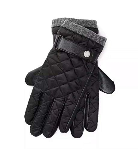 POLO Ralph Lauren Men's Leather Quilted Gloves,Black,Medium (Black Gloves Leather Quilted)