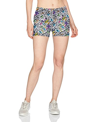 Soffe Women's Juniors Printed Compression Shorts, Painted Reptile, Medium (Reptile Bootie)