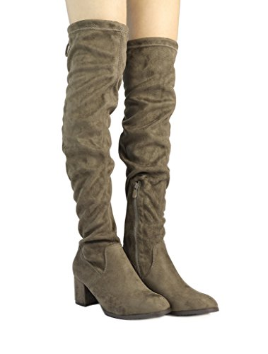 73725c9a5e4 Jual DREAM PAIRS Women s Over The Knee Thigh High Low Block Heel ...