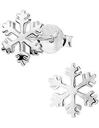 Hypoallergenic Sterling Silver Snowflake Stud Earrings for Kids (Nickel Free)