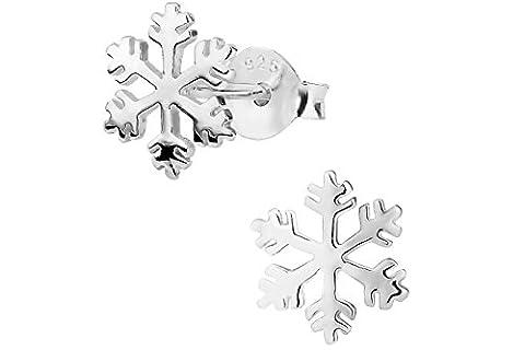 Hypoallergenic Sterling Silver Snowflake Stud Earrings for Kids (Nickel Free) (Sterling Snowflake Earrings)