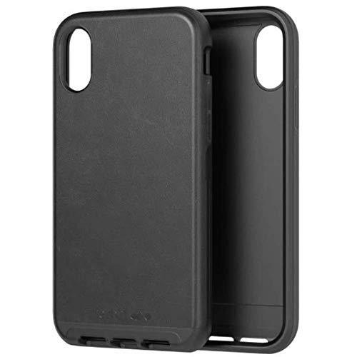 Cuero Negro Tech21 Evo Luxe Faux Leather Funda Protectora para Apple iPhone XR