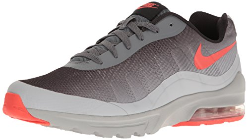 NIKE Men's Air Max Invigor Print Running Shoe, Dark Grey/Max Orange/Wolf Grey/Black, 10 D(M) US