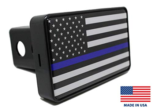 Best Prices! Bright Hitch - Thin Blue Line American Flag Hitch Cover
