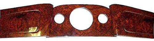 Austin Mini BURL WOOD WALNUT 3 PIECE CENTER CLOCK - Wood Clock Burl