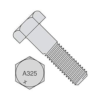 Partially Threaded Coarse Thread Steel Length: 8 1//2 inches 7//8-9 x 8 1//2 Hex Head Bolts Plain Finish QUANTITY: 25 Thread Diameter: 7//8 inch Steel Grade 5 Hex Head Cap Screws