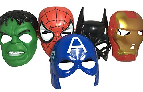 Seasons Merchandise Set Of 5 Masks: Spider-Man, Batman, Hulk, Iron man, Captain America -