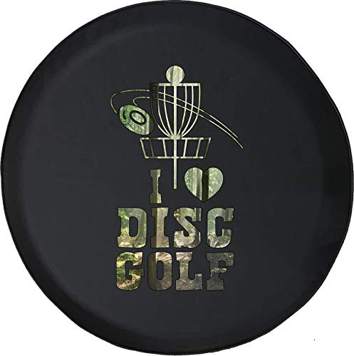 American Unlimited Spare Tire Cover Disc Golf Chain Pole fits Jeep or RV Accessories Camper for 2019 Size 35 Inch