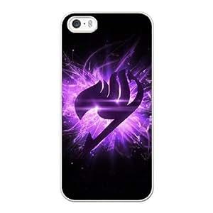 Fairy Tail logo Q5P3QS9N Caso funda iPhone 5 5s Caso funda del teléfono celular blanco