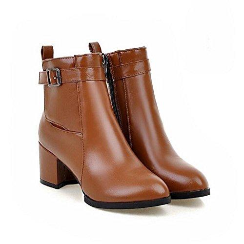 Botas de otoño e invierno tacón Martin con el estilo retro de viento bota mujer botas yellow