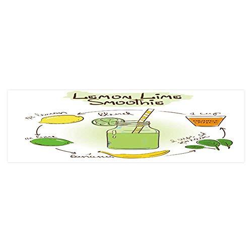 Dragonhome Aquarium Background Sticker Sketch with Lemon Lime Smoothie includ Recipe and redients Aquarium Sticker Wallpaper Decoration L23.6 x H19.6