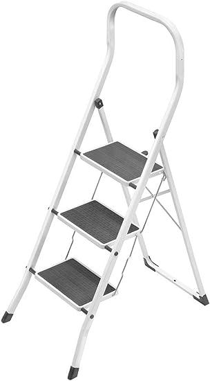GIERRE B0300 Escalera plegable Negro, Color blanco escalera - Escalera de mano (70 cm, 6,8 kg, 470 mm, 13 cm, 140 cm, 2,7 m): Amazon.es: Bricolaje y herramientas