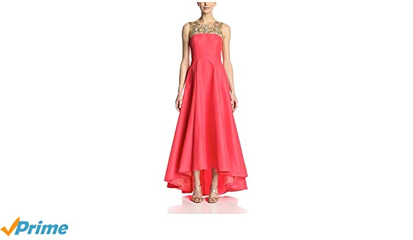 d68affb0 Amazon.com: Marchesa Notte Women's Embellished Sleeveless Gown, Coral, 4:  Clothing