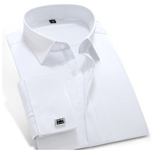 Havadi Shirts Mens Dress Shirt French Cuff Slim Fit Men Shirt Long Sleeve Cotton Silk With Cufflinks Men Clothes - Madrid Office Chair