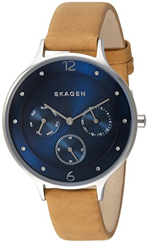 Skagen Women's SKW2310 Anita Light Brown Leather Watch
