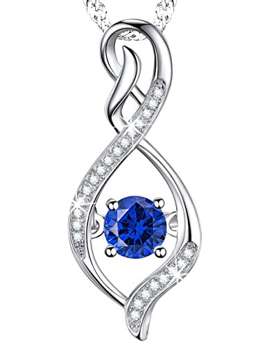 Birthday Mothers Day Gift for Her for Mom Wife Lady Blue Sapphire Infinity