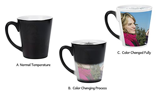 Magic Photo Ceramic Coffee Mugs, Personalized Custom Heat Sensitive Color Change Morning Coffee Mug Milk Water Tea Cup Add YOUR PHOTO&TEXT,Perfect XMAS Birthday Keepsake gifts for Family Lover Friends -