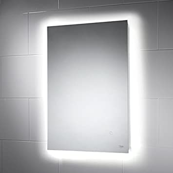 Savannah Illuminated LED Bathroom Mirror 500mm X 700mm Colour Change Ambient Mood Lighting