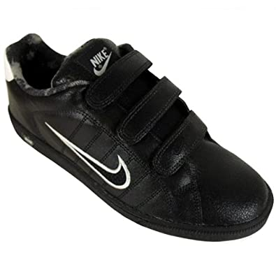 Nike Mens Court Tradition V 2 Leather Trainer Black Velcro Trainers Size UK  9 c362d8a60