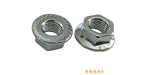 M12-1.25 JIS 12mm x 1.25 J.I.S Fine Thread Steel Flange Nuts M12x1.25 100