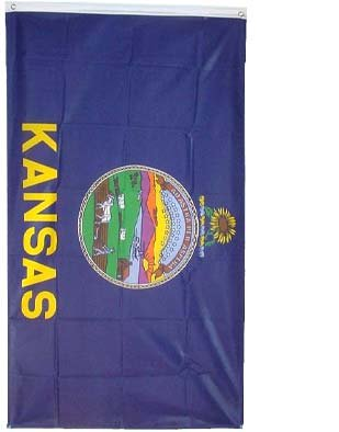 Kansas Flag Polyester 3 ft. x 5 ft.