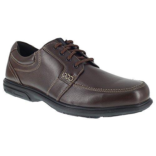 Florsheim Steel Toe Shoes - Florsheim Mens Brown Leather Work Shoes Loeden Lace-up ST Oxfords 10 D