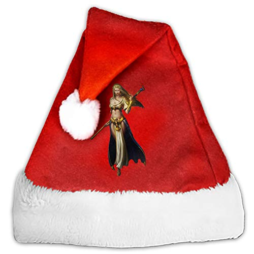 (Woman Warrior Santa Claus Cap for Unisex-Adults Xmas Party with Plush Trim and Comfort Liner)
