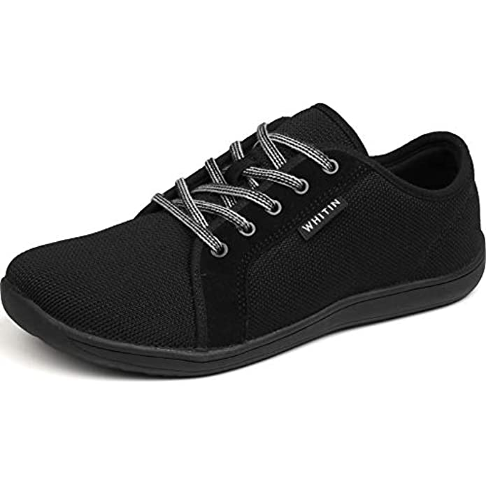 WHITIN Women's Knit Barefoot Minimalist Sneakers- Lace Up Wide Fit