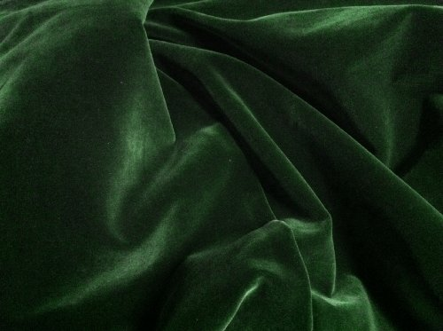 1 X Hunter Green Velvet Fabric 45