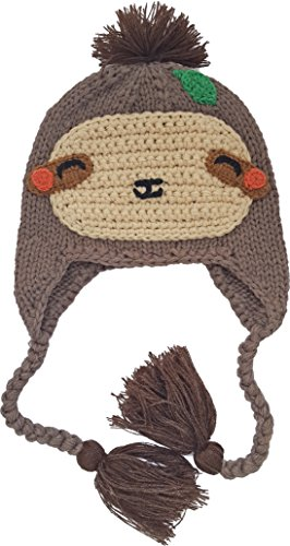 Huggalugs Baby and Toddler Childrens Sloth Beanie Hat L Brown -