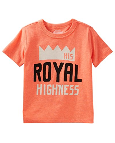 OshKosh B'Gosh Boys' Originals Graphic Tee (4T, Orange/His Royal Highness)