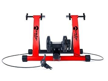 Velo Pro - entrenador de bicicleta de interior. Entrenador plegable con resistencia magnética para bicicleta