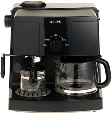 KRUPS XP1500 Coffee Maker and Espresso Machine Combination, Black
