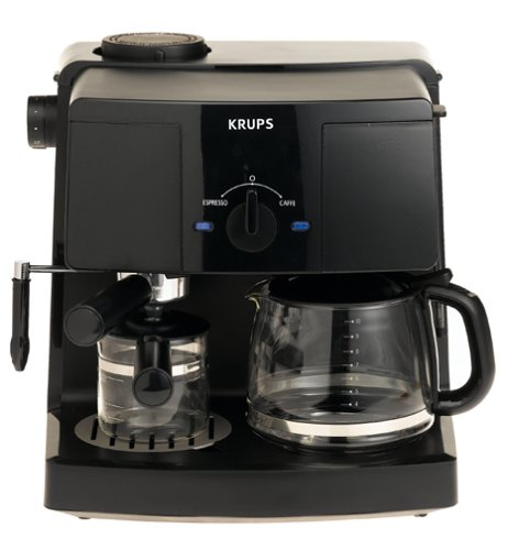 KRUPS XP1500 Coffee Maker and Espresso Machine Combination, Black by KRUPS