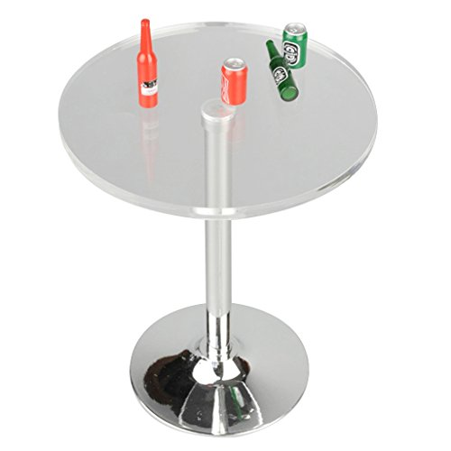 Did 1/6 Scale - Dovewill 1/6 Scale Clear Round Pub Bar Table and Beer Bottles Accessories for 12'' Action Figures BBI DID TTL
