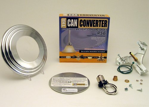 Can Converter R56-RMB-CHR 5 inch & 6 inch Recessed Can Light Converter Kit with Polished Chrome - Chrome Medallion