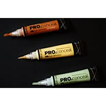 L.A. Girl Pro Conceal Set Orange, Yellow, Green Correctors