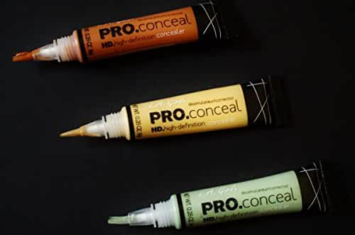 L.A. Girl Pro Conceal Set Orange, Yellow, Green Correctors